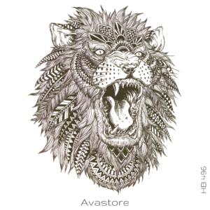 image tatouagelion