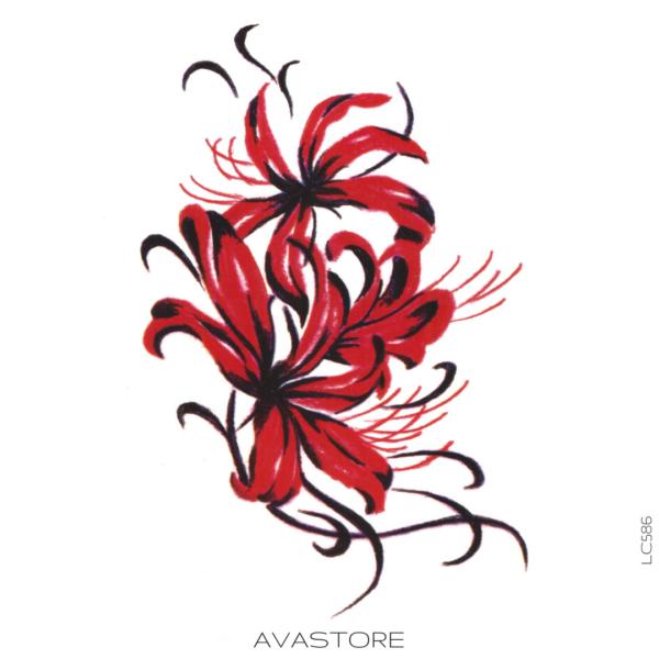 image tatouage fleuri