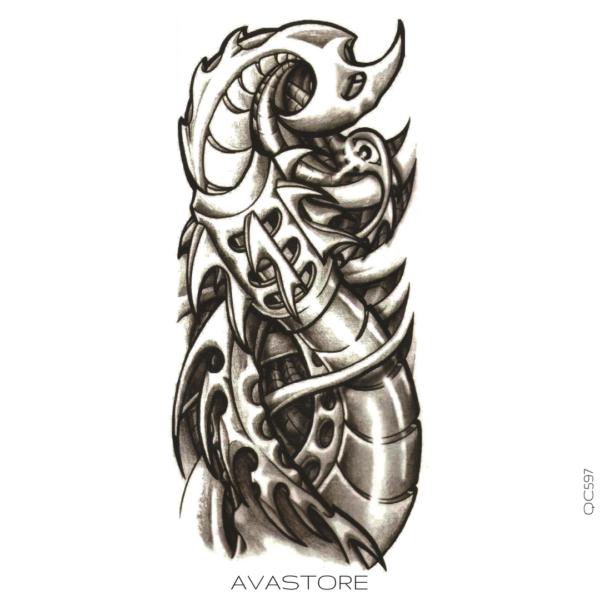 tatouage temporaire mutant