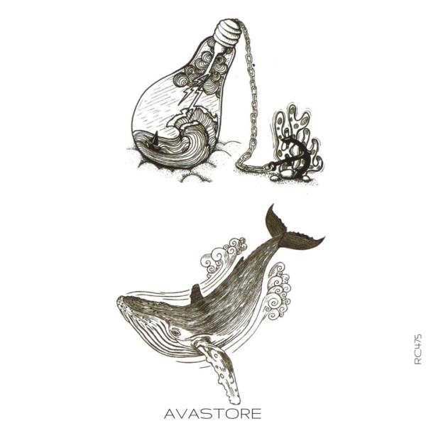 image tatouage baleine