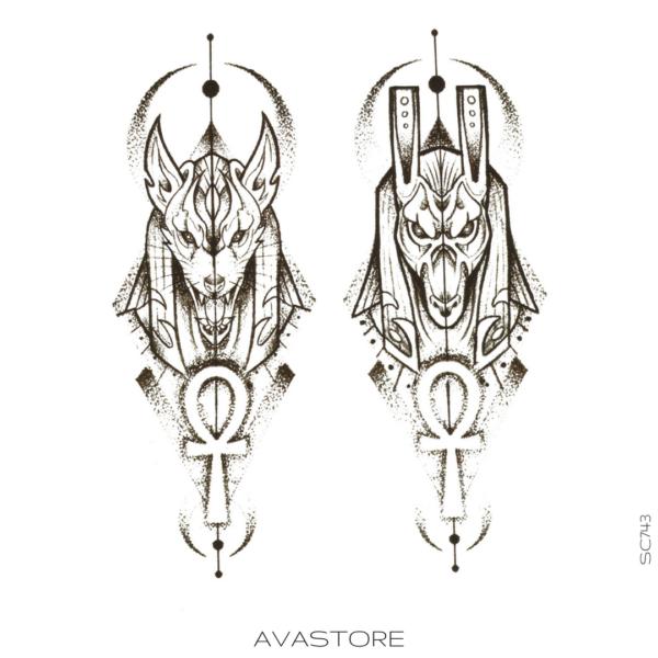 image tatouage Anubis