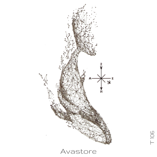 image tatouage temporaire baleine à bosse
