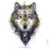 image tatouage loup