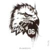 image tatouage aigle américain
