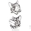 image tatouage temporaire chat