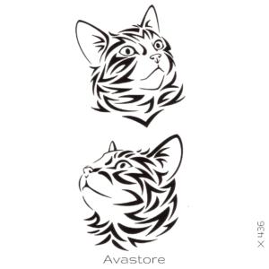 Tatouage temporaire chat