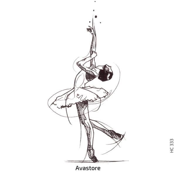 image du tatouage temporaire danse classique