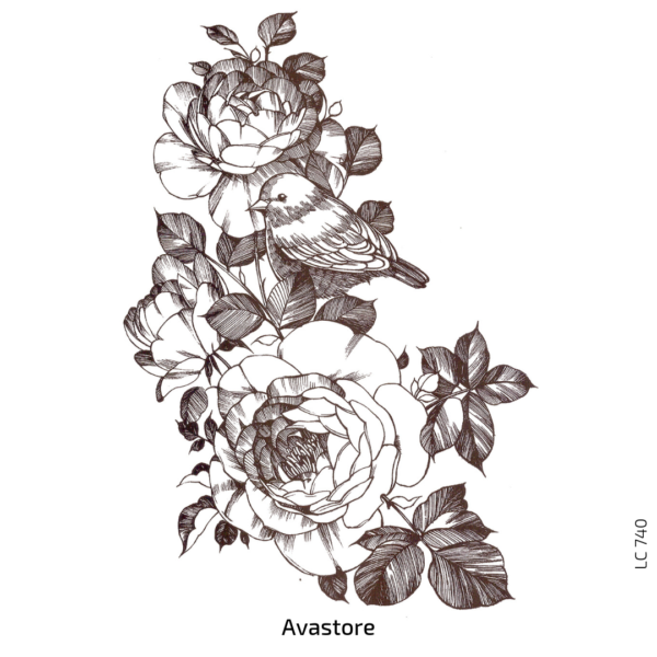 image du tatouage temporaire printemps