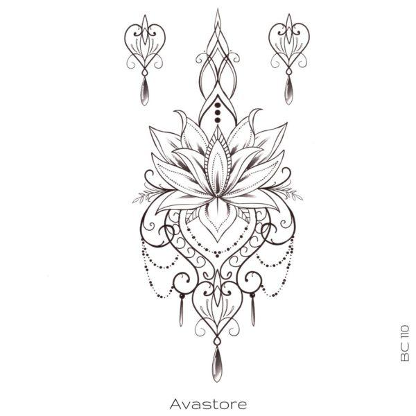 Tatouage Temporaire Fleur d'Orient