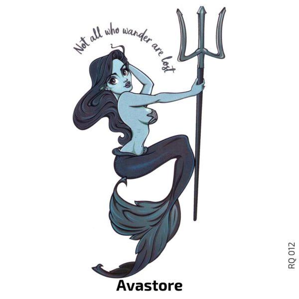 tatouage temporaire Sirène et trident