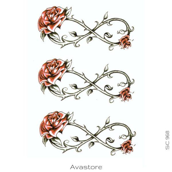tatouage temporaire rosea