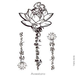 tatouage temporaire flore