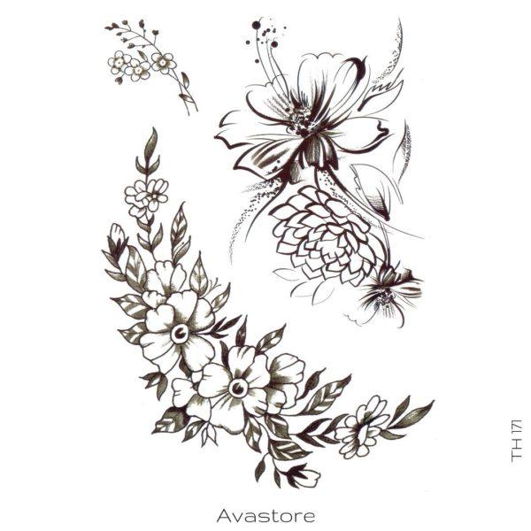 tatouage temporaire fleuris