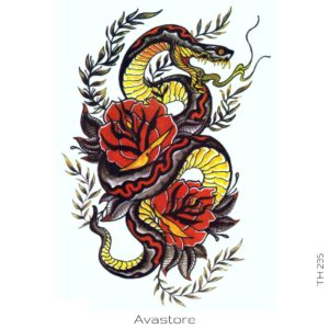 tatouage temporaire reptile