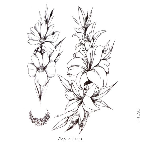 tatouage temporaire floraison