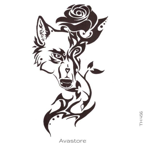 tatouage temporaire renard