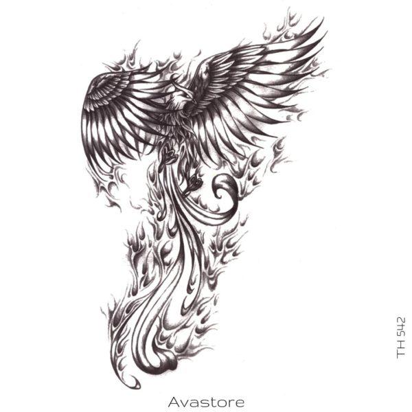 tatouage temporaire grand phoenix