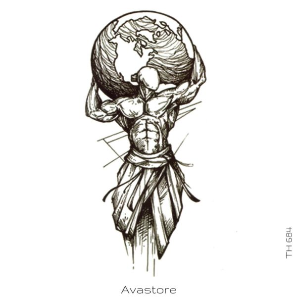tatouage temporaire atlas