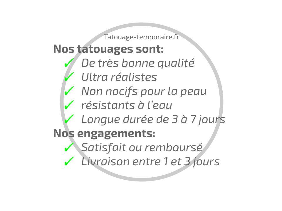 les plus de nos tatouages temporaires
