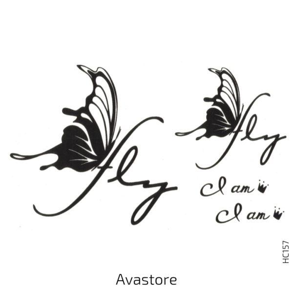 tatouage temporaire papillon Machaon