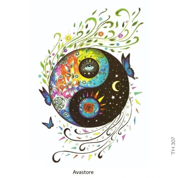 tatouage temporaire Love and Peace