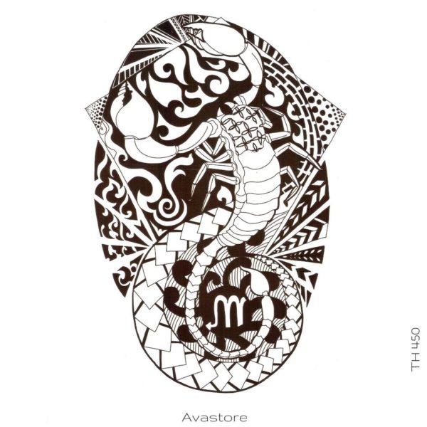Tatouage temporaire Scorpio Maori